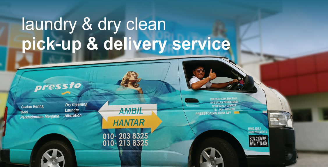 Laundry & dry clean pick up and delivery service