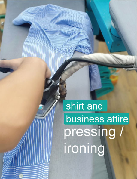 Shirt Business Attire pressing and ironing