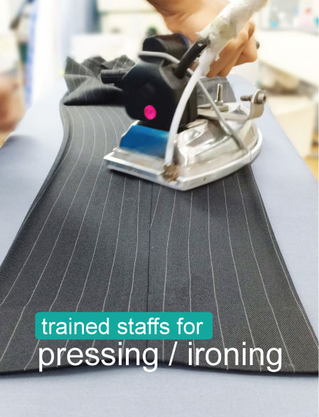 Trained Staff for Pressing Ironing