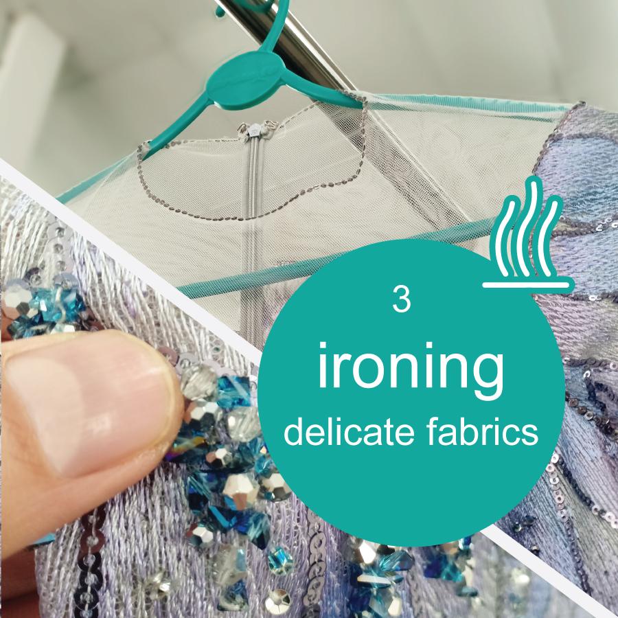 Pressing delicate garment care specialist
